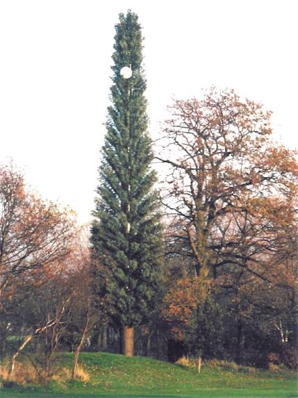 Tree mast, before final  painting